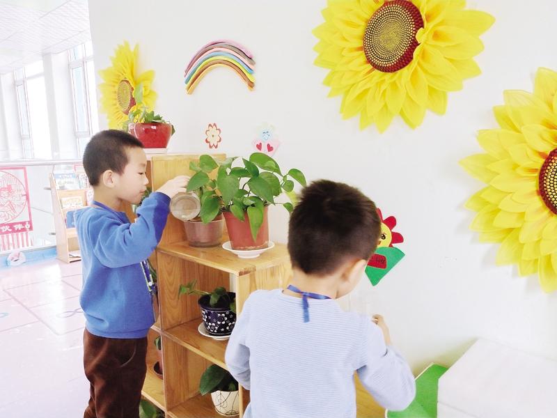 对话环境 浸润童心——记开发区实验幼儿园环境创设交流评比活动