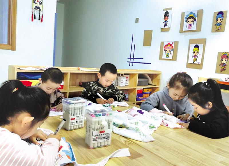 阳泉市南山幼儿园积极为幼儿创设游戏环境