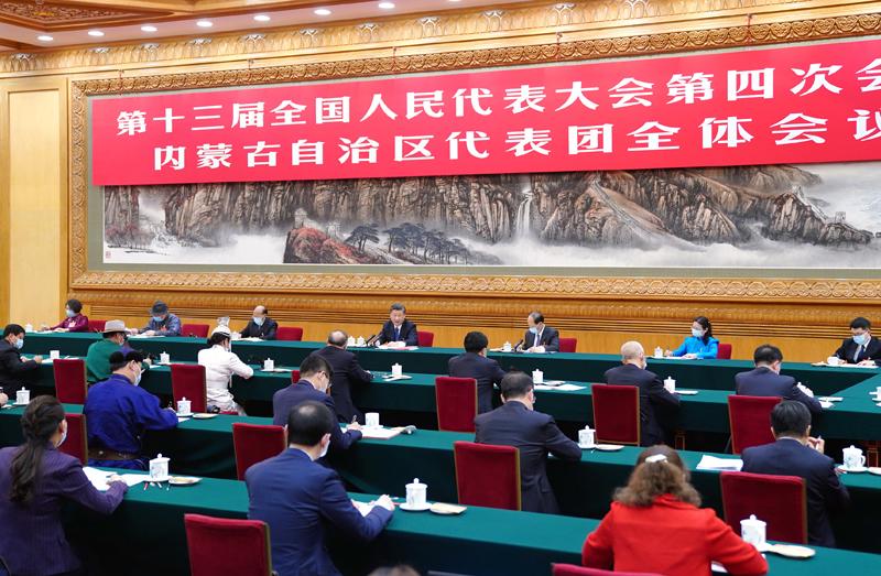 习近平在参加内蒙古代表团审议时强调:完整准确全面贯彻新发展理念 铸牢中华民族共同体意识