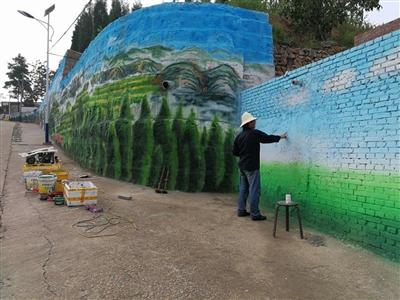 一堵堵城市文化墙,犹如一道道亮丽风景线,成为城市文明宣传和地域文化