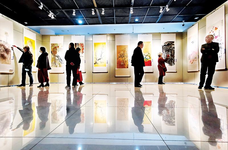 """""""时代赞歌——阳泉·常德美术作品联展""""在阳泉展览馆开展"""
