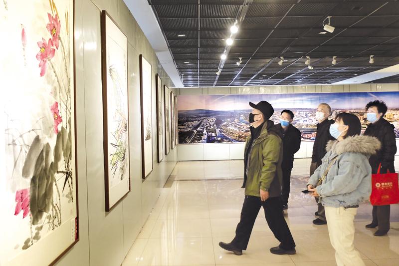 """首届""""水墨漾泉""""2021当代中国画名家邀请展在市展览馆举行"""