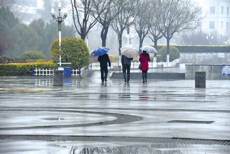 2月28日,我市迎来入春后的第一场雨雪天气