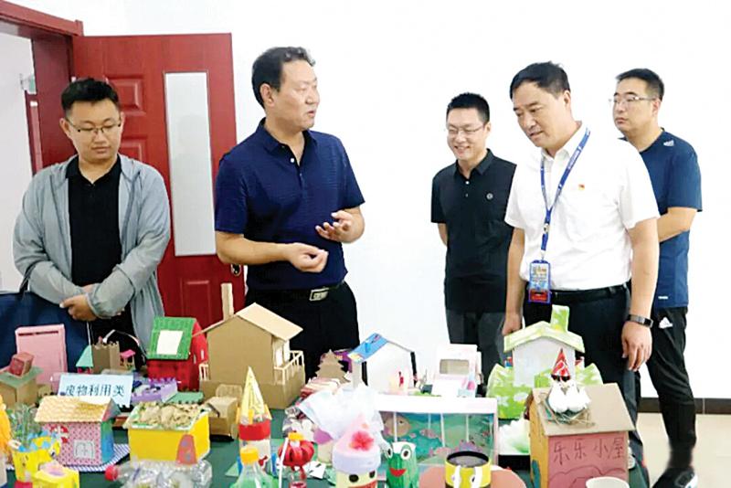 盂县第三实验小学接受全国文明校园测评验收