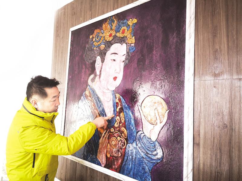 """张金勇:复兴家族手艺 """"韵彩—油晶画""""迎来发展""""春天"""""""